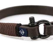 Constantin Nautics® Jack Tar SLIM bőr karkötő CNJ10011