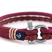 Constantin Nautics® Jack Tar SLIM bőr és vitorláskötél karkötő CNJ10076-18